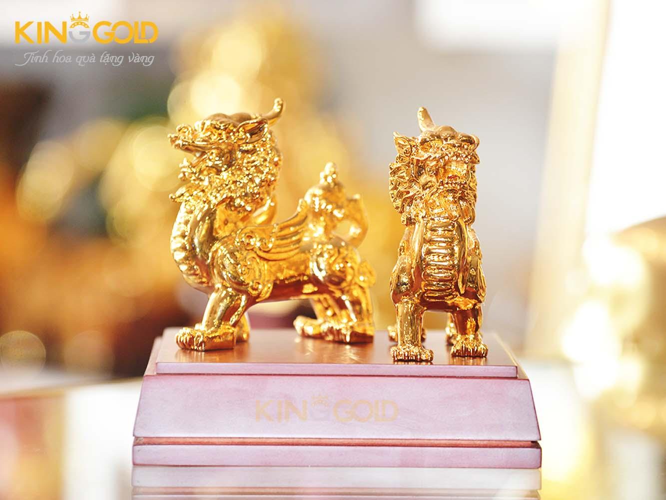 Giá bán tượng đồng tỳ hưu phong thủy mạ vàng 24k cao cấp0