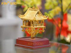 Chùa Một Cột mạ vàng 24k cao cấp- quà tặng đối tác nước ngoài