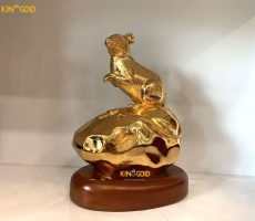 Tượng Chuột Mạ Vàng 24k Cao Cấp- Quà Tặng Tết 2020