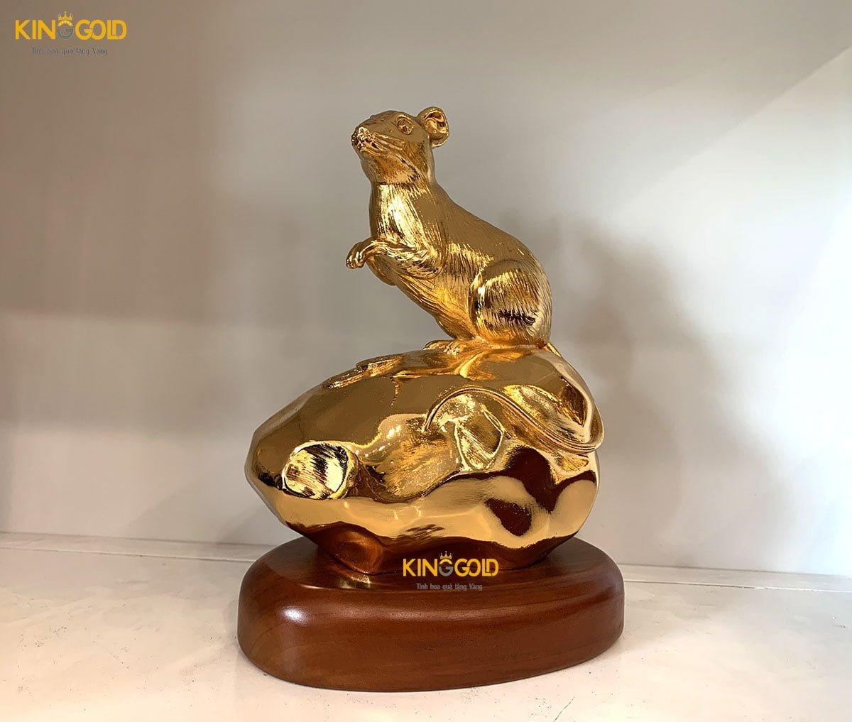 Tượng Chuột Mạ Vàng 24k Cao Cấp- Quà Tặng Tết 20200