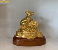 Quà Tết 2020 Ý Nghĩa- Tượng Chuột Dát Vàng 24k