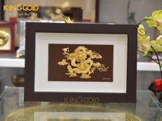Tranh rồng vàng phú quý mạ vàng 24k- quà tặng dịp Tết 2020
