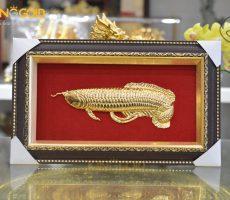 Tranh cá rồng bằng đồng mạ vàng 24k tại Đồ đồng Việt