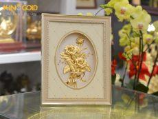 Tranh hoa hồng dát vàng 24k- quà tặng vợ, quà tặng bạn gái