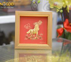 Tranh ngựa vàng 24k mã đáo thành công làm quà Tết Canh Tý 2020