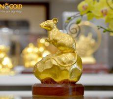 Quà tặng tượng chuột phong thủy mạ vàng- quà tặng Tết 2020