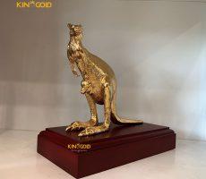 Tượng Đồng Kangaroo Mạ Vàng 24K- Quà Tặng Tượng Đồng