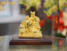 Tượng đàn chuột ôm bao tiền vàng, quà tặng linh vật phong thủy