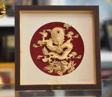 Giá bán tranh rồng phú quý vàng lá 24k đẹp tinh xảo