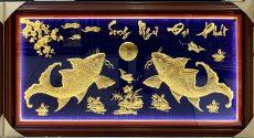 Tranh vàng song ngư đại phát làm quà tặng khai trương ý nghĩa