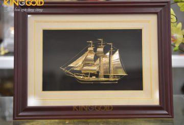 Tranh vàng 24k thuận buồm xuôi gió- quà tặng doanh nhân ý nghĩa