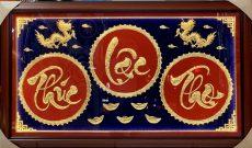 Tranh chữ Phúc Lộc Thọ mạ vàng- quà tặng Tết Tân Sửu 2021