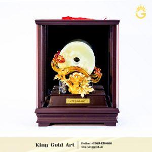 Quà tặng gậy như ý mạ vàng bọc hộp kính sang trọng