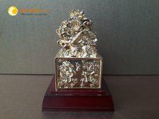 Ấn rồng bằng đồng phong thủy mạ vàng sang trọng