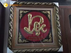 Mẫu tranh chữ lộc bằng đồng đẹp và chất lượng