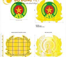 Chuyên thi công lắp đặt quốc huy, logo, công an hiệu cỡ lớn