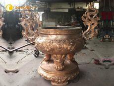 Đơn vị đúc lư hương đình chùa theo yêu cầu giá rẻ chất lượng