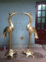 Đồ đồng Việt chế tác đôi hạc đồng cỡ lớn theo yêu cầu