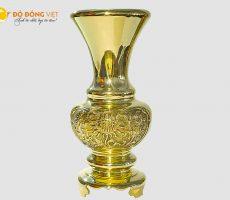 Lọ hoa bông cúc đồng vàng cao 30cm