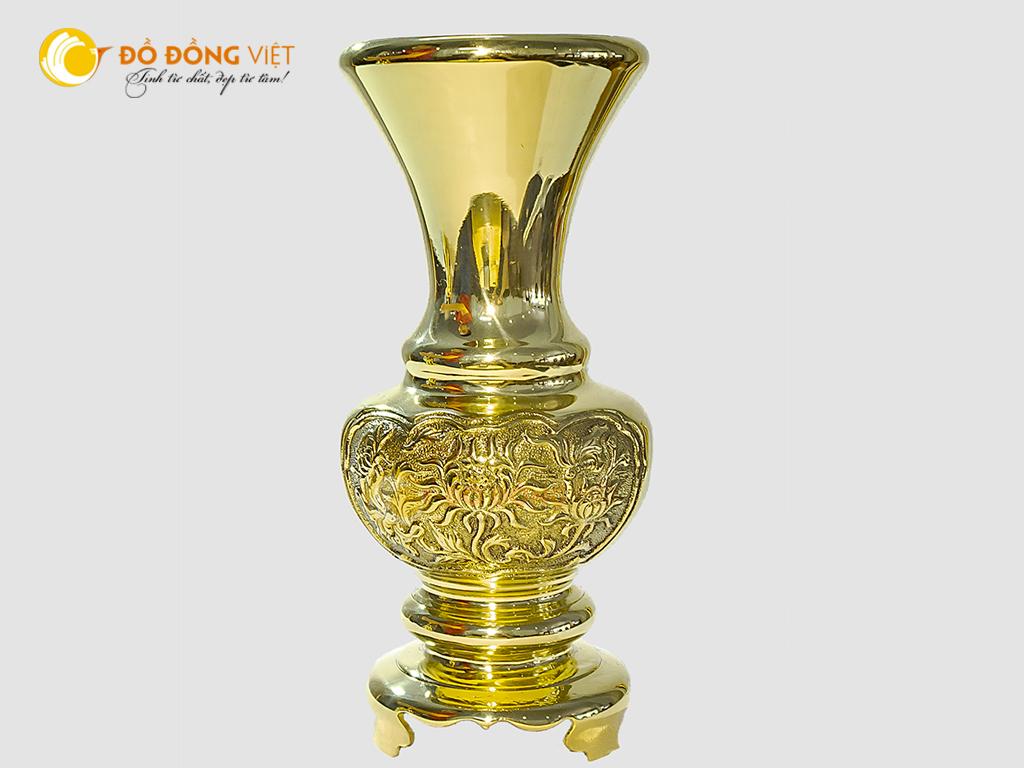 Lọ hoa bông cúc đồng vàng cao 30cm0