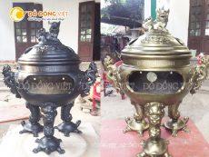 Lư hương đồng do Đồ đồng Việt chế tác