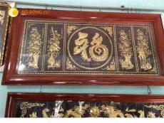 Tranh chữ Phúc hóa Rồng chạm tranh tứ quý đẹp tinh xảo
