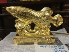 Tượng Cá Rồng Mạ Vàng 24k làm Quà tặng phong thủy ý nghĩa