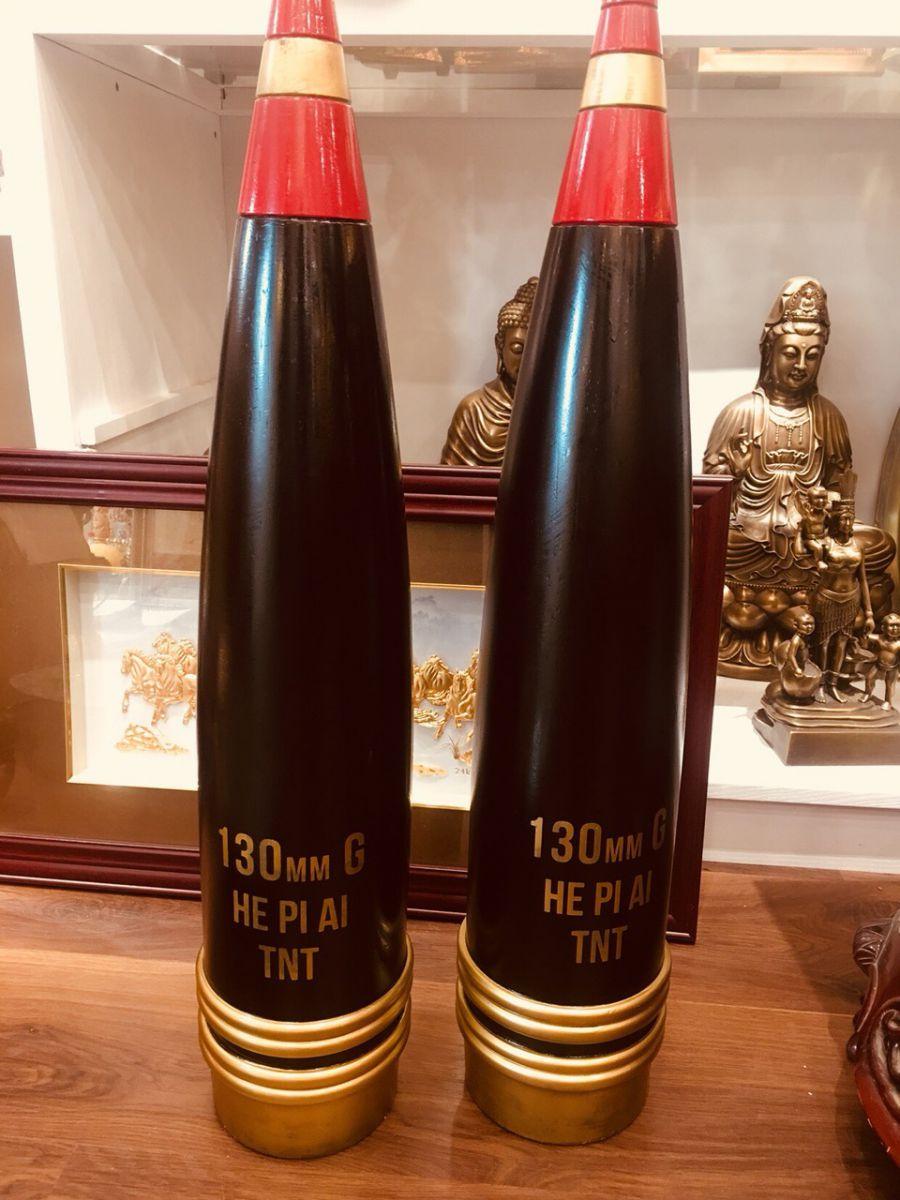 Đồ đồng Việt chế tác vỏ đạn pháo mỹ nghệ theo yêu cầu0