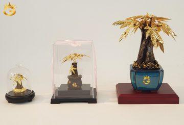 Chiêm ngưỡng bộ sưu tập chậu cây kim ngân mạ vàng đẹp tinh xảo