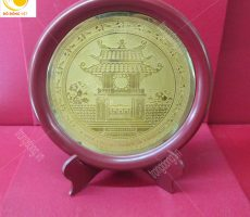 Mặt đĩa đồng Khuê Văn Các làm quà tặng ý nghĩa