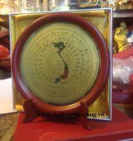 Mặt đĩa trống đồng quà tặng đường kính 24 cm