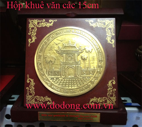 Đĩa đồng quà tặng biểu trưng quà lưu niệm Khuê Văn Các0