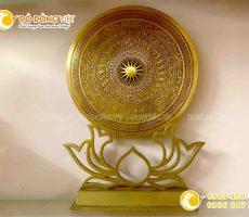 Đĩa đồng quà tặng mặt trống đồng đúc thủ công hình bản đồ Việt Nam
