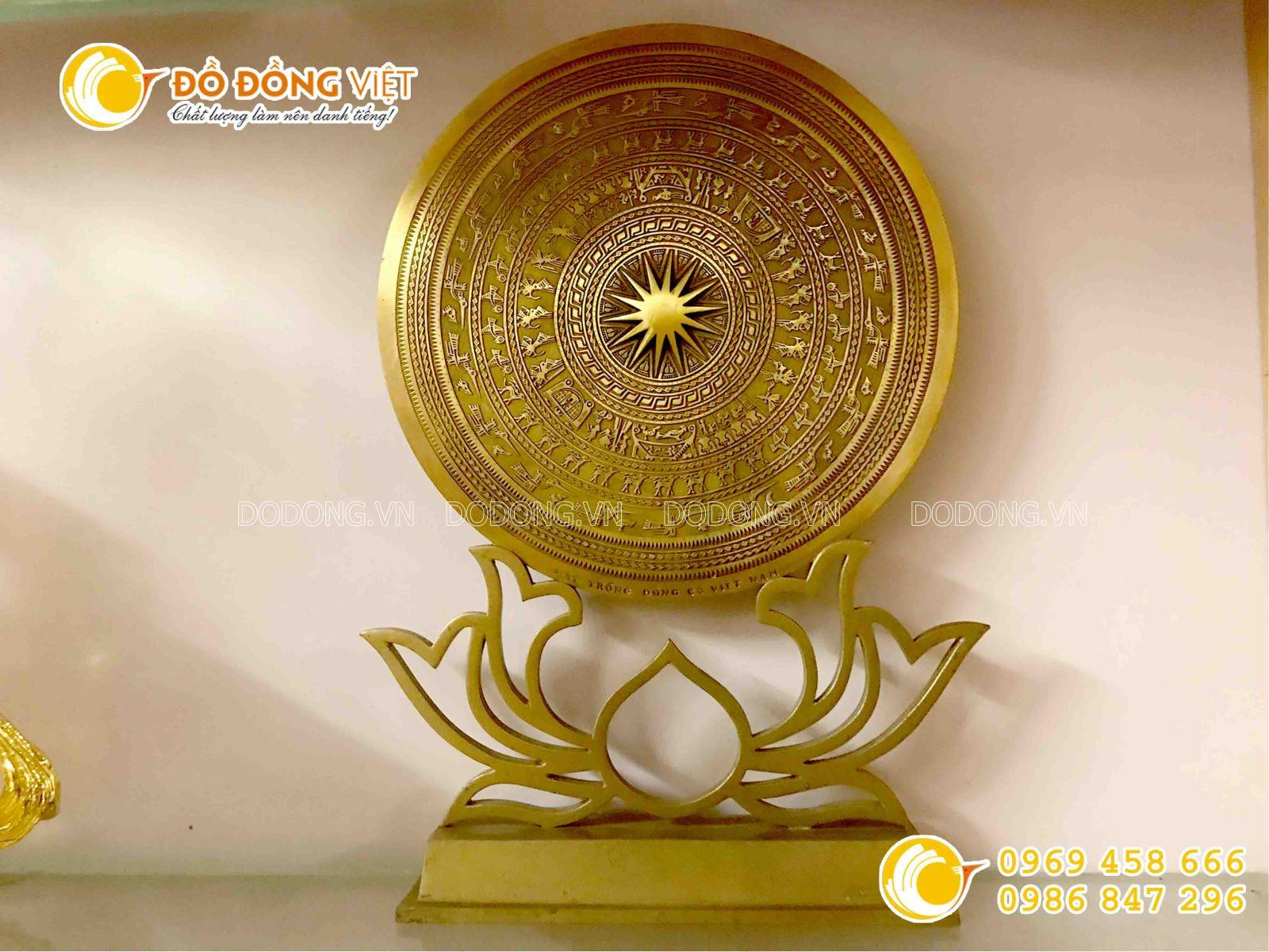 Đĩa đồng quà tặng mặt trống đồng đúc thủ công hình bản đồ Việt Nam0