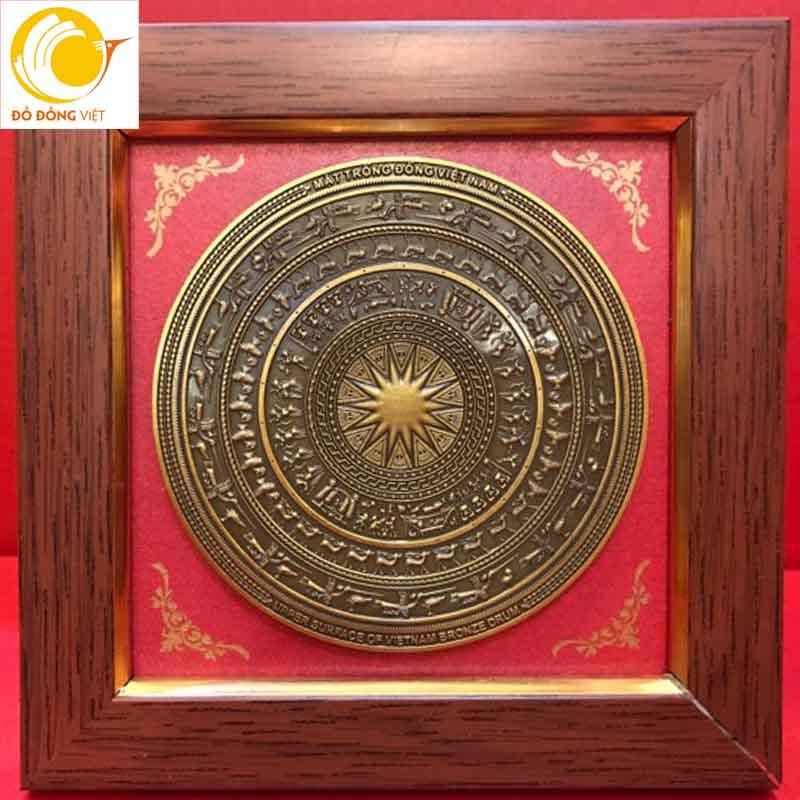 Mặt trống đồng quà tặng phiên bản trống đồng Đông Sơn0